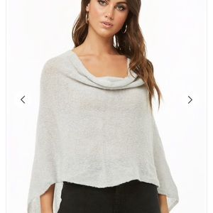 Forever 21 Plush Sweater Knit Poncho